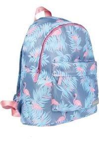 Starpak Plecak szkolny flamingi niebieski. Kolor: niebieski