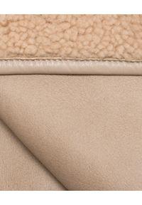 ALMAROSAFUR - Dwustronna kurtka z kapturem. Typ kołnierza: kaptur. Kolor: beżowy. Materiał: jeans, dresówka, materiał. Sezon: jesień, zima