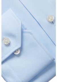 Niebieska koszula Emanuel Berg z klasycznym kołnierzykiem, klasyczna, długa