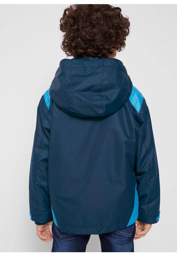 Niebieska kurtka bonprix casualowa, na co dzień, z kapturem