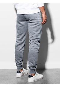 Ombre Clothing - Spodnie męskie dresowe joggery P867 - szare - XXL. Kolor: szary. Materiał: dresówka #3