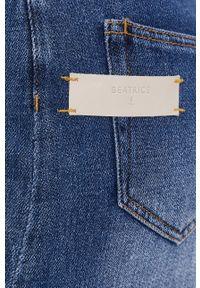 Beatrice B - Spódnica jeansowa. Okazja: na co dzień. Kolor: niebieski. Materiał: jeans. Styl: casual