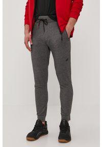 4f - 4F - Spodnie. Okazja: na co dzień. Kolor: szary. Materiał: dzianina. Styl: casual