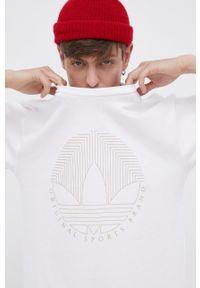 adidas Originals - Adidas Originals - T-shirt bawełniany. Kolor: biały. Materiał: bawełna. Wzór: nadruk