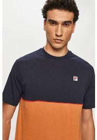 Brązowy t-shirt Fila na co dzień, casualowy