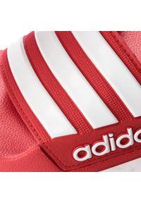 Czerwone klapki na basen Adidas