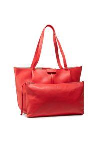 Czerwona torebka klasyczna Patrizia Pepe casualowa, skórzana