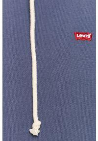 Niebieska bluza nierozpinana Levi's® na co dzień, z kapturem, casualowa