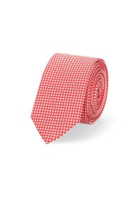 Lancerto - Krawat Czerwony Wzór Geometryczny. Okazja: do pracy, na co dzień. Kolor: czerwony. Materiał: tkanina, mikrofibra. Wzór: geometria. Styl: wizytowy, klasyczny, casual