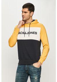 Jack & Jones - Bluza. Okazja: na co dzień. Typ kołnierza: kaptur. Kolor: żółty. Materiał: dzianina. Styl: casual