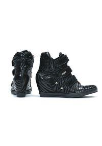 Czarne botki Zapato na co dzień, na zimę
