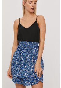 Vero Moda - Spódnica. Kolor: fioletowy. Materiał: tkanina
