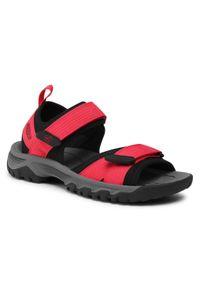 Czerwone sandały trekkingowe keen z otwartym noskiem