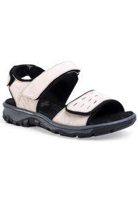 Beżowe sandały Rieker na co dzień, casualowe