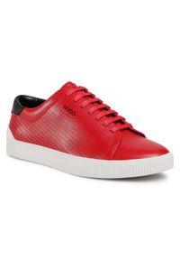 Czerwone sneakersy Hugo z cholewką, na co dzień
