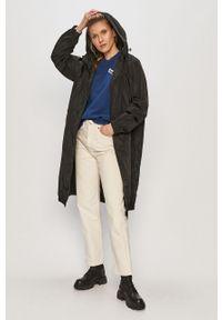 Niebieska bluza Lee długa, z długim rękawem, z nadrukiem