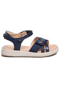 Niebieskie sandały Geox casualowe, na co dzień