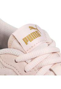 Różowe półbuty casual Puma na co dzień, z cholewką