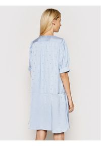 Samsoe & Samsoe - Samsøe Samsøe Sukienka koszulowa Jetta F21200112 Niebieski Loose Fit. Kolor: niebieski. Typ sukienki: koszulowe
