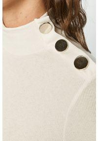 Biały sweter Haily's długi, z długim rękawem