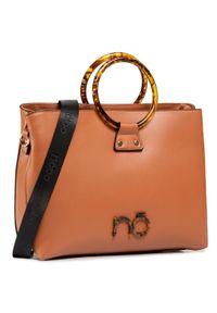 Brązowa torebka klasyczna Nobo casualowa, na ramię