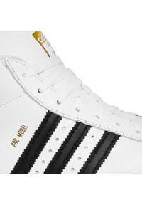 Białe kozaki Adidas z cholewką