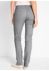 Spodnie ze stretchem Slim Fit bonprix szary. Kolor: szary. Materiał: bawełna #5
