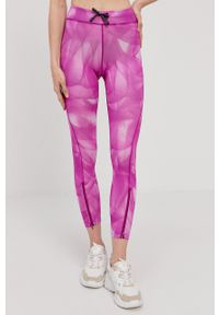 Nike - Legginsy. Kolor: różowy. Materiał: dzianina, materiał, tkanina, włókno, skóra. Technologia: Dri-Fit (Nike)