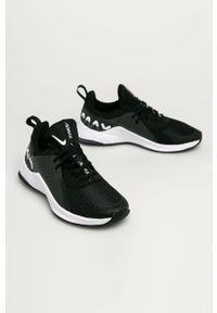 Czarne buty sportowe Nike Nike Air Max, na średnim obcasie, z okrągłym noskiem, na sznurówki