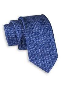 Niebieski Elegancki Krawat -Chattier- 6,5cm, Męski, Wzór Geometryczny. Kolor: niebieski. Materiał: tkanina. Wzór: geometria. Styl: elegancki