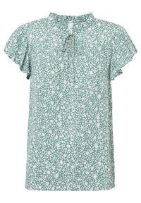Bluzka bonprix szałwiowy. Kolor: zielony