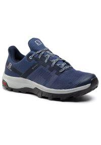 Niebieskie buty trekkingowe salomon
