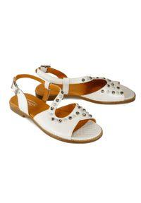 Białe sandały Lanqier