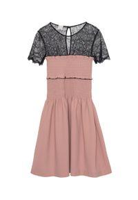 Beżowa sukienka mini Pinko na co dzień, casualowa