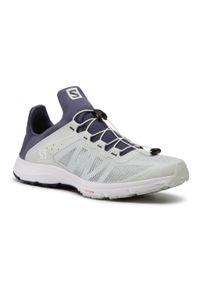 Niebieskie buty sportowe salomon z cholewką, na co dzień