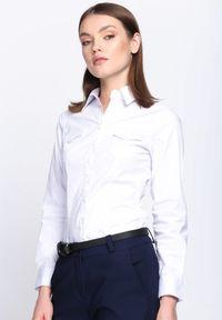 Born2be - Biała Koszula Adequation. Kolor: biały