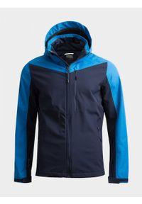 Niebieska kurtka softshell outhorn melanż