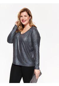 Szary sweter TOP SECRET w kolorowe wzory, na zimę #9