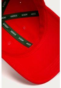 Czerwona czapka z daszkiem Lacoste