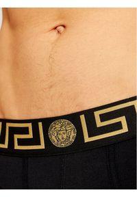 VERSACE - Versace Slipy Greca AU10027 Czarny. Kolor: czarny