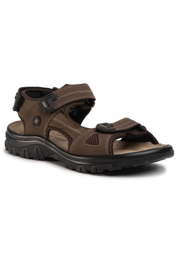 Brązowe sandały Marco Tozzi casualowe, na lato, na co dzień