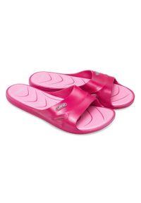 LANO - Klapki damskie basenowe Lano KL-3-2246-5 Różowe. Okazja: na plażę. Kolor: różowy. Materiał: guma. Obcas: na obcasie. Wysokość obcasa: niski