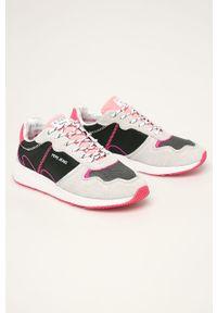Różowe buty sportowe Pepe Jeans z cholewką, na sznurówki