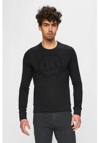 Czarna bluza nierozpinana Armani Exchange z nadrukiem, bez kaptura