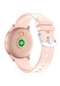 Różowy zegarek Maxcom smartwatch, klasyczny