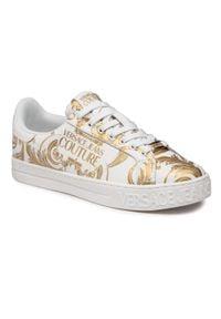 Versace Jeans Couture - Sneakersy VERSACE JEANS COUTURE - E0YWASK9 71973 MCI 003. Kolor: biały. Materiał: skóra ekologiczna, materiał. Szerokość cholewki: normalna