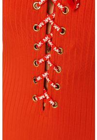 Czerwony strój kąpielowy Michael Kors z aplikacjami, z fiszbinami