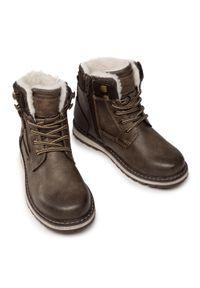 Brązowe buty zimowe Tom Tailor
