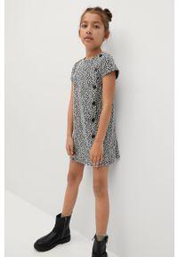Biała sukienka Mango Kids z krótkim rękawem, na co dzień, mini, prosta