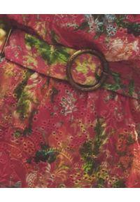 HEMANT & NANDITA - Sukienka na jedno ramię Miyu. Kolor: różowy, fioletowy, wielokolorowy. Materiał: wiskoza. Długość: mini
